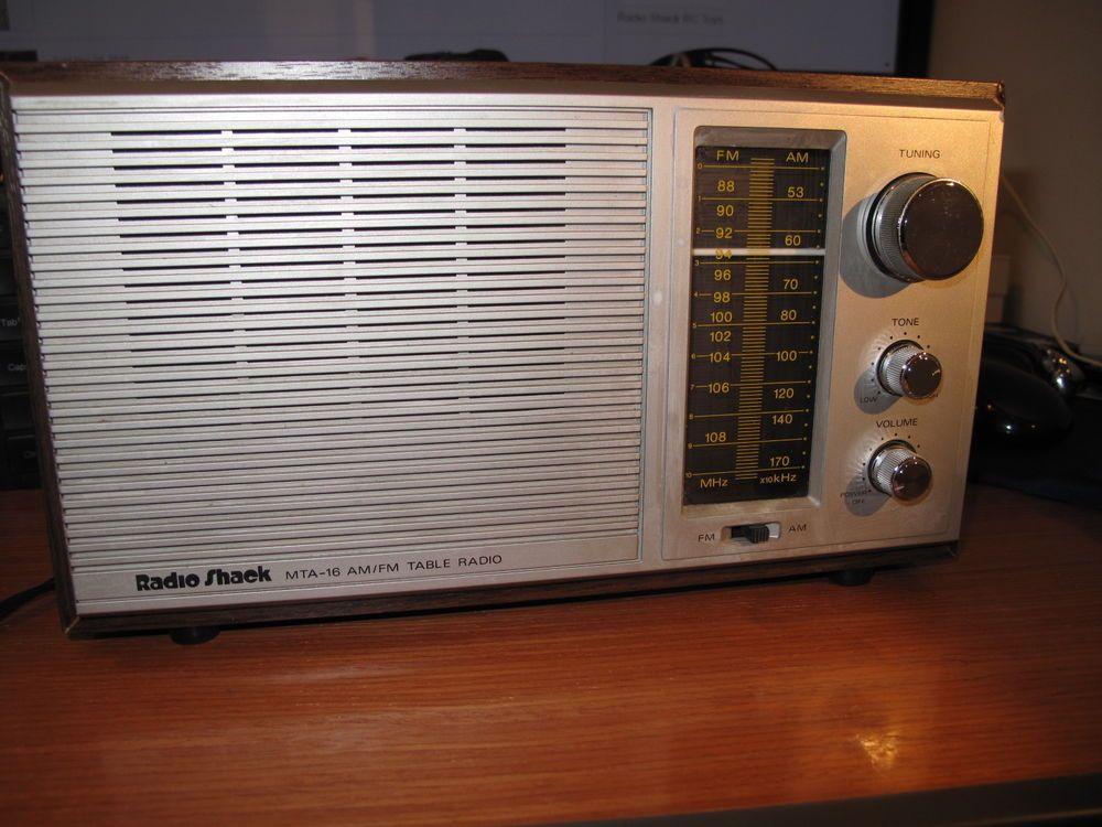 vintage radio shack mta 16 table radio am fm lighted dial looks rh pinterest com