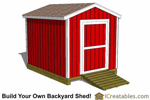 10x12 Cape Cod New England Shed Plan Design Plans