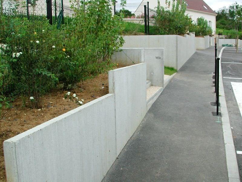 Prefab retaining wall reinforced concrete for Prefab foundation walls