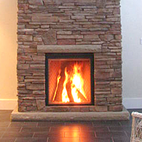 New Fireplace In The Next House Very Efficient Icc