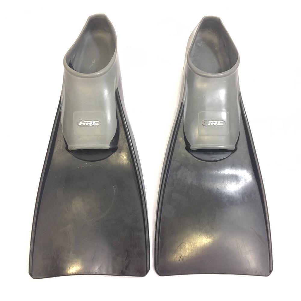 Hre Swim Fins Flippers Size 9 11 42 43 Floating Black Gray Swim Fins Black And Grey Black