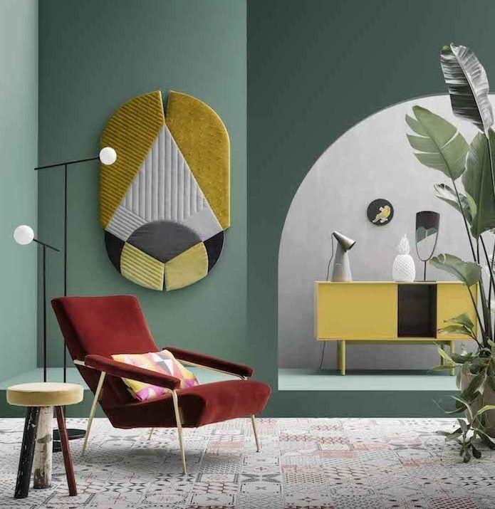 1001 id es d co charmantes pour adopter la nuance vert c ladon design d int rieur. Black Bedroom Furniture Sets. Home Design Ideas