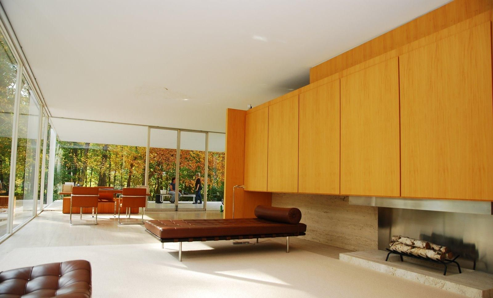 Mies van de Rohe Farnsworth House Interior Modern Architecture