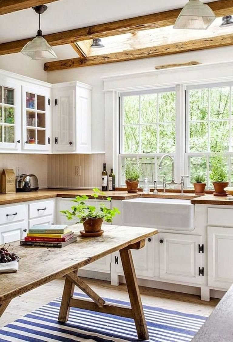30 beautiful modern white farmhouse kitchen ideas kitchen dining rh pinterest es