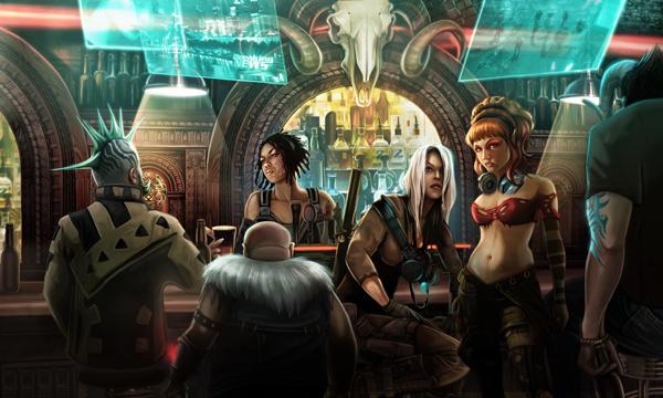 Cyberpunk - Shadowrun returns, by Echo Chernik