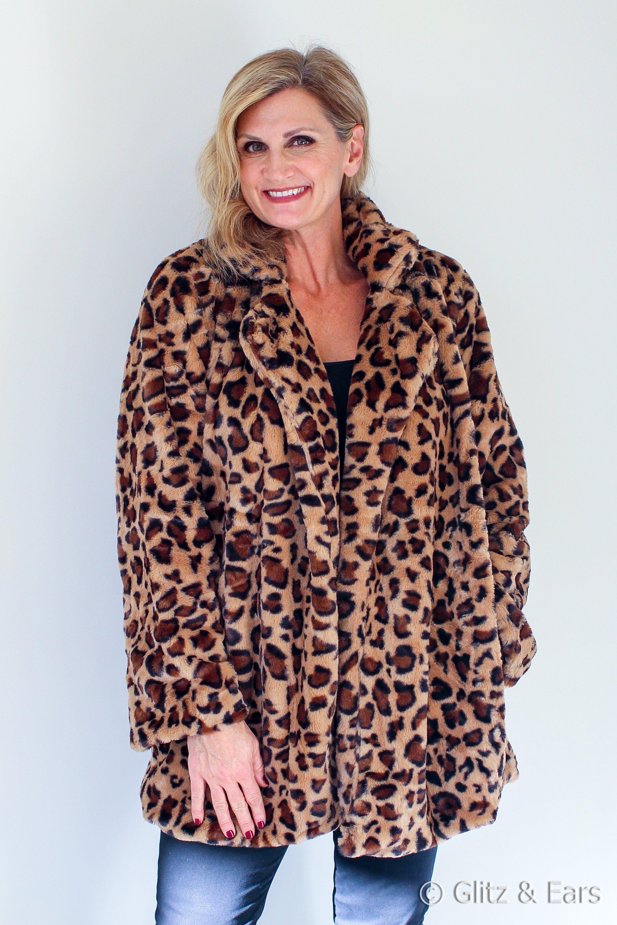 158a392448b1 Fuzzy Leopard Print Jacket | Products | Leopard print jacket, Print ...