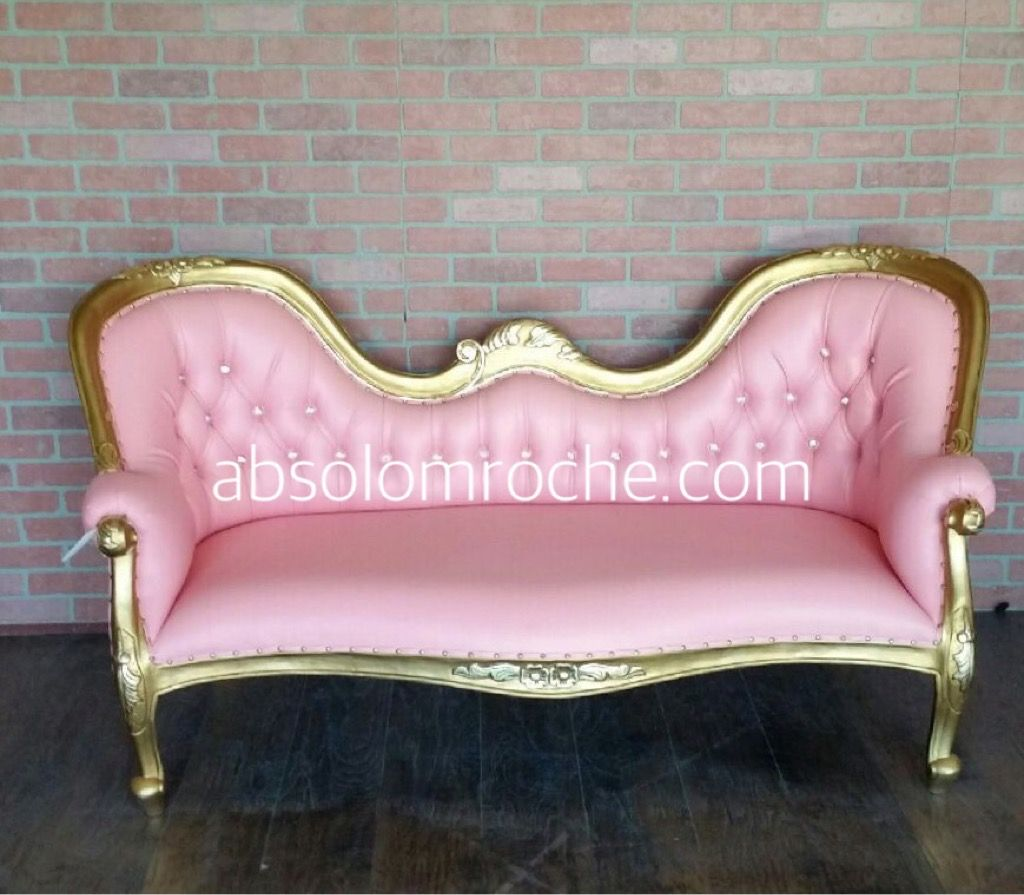 memorial day sale victorian chaise sofa settee gold pink rh pinterest com