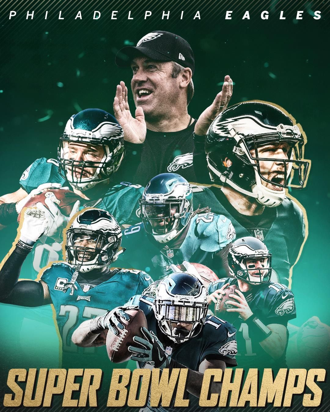 CONGRATS! Philadelphia Eagles for the NFL Super Bowl LII