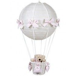 lampara globo vichy rosa de pasito a Pasito