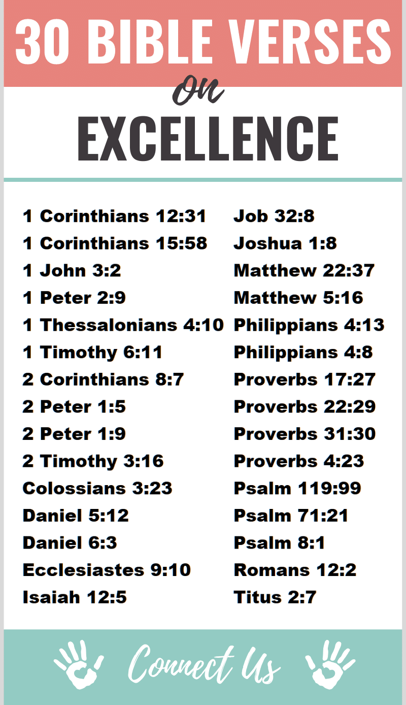 30 Uplifting Bible Scriptures on Excellence