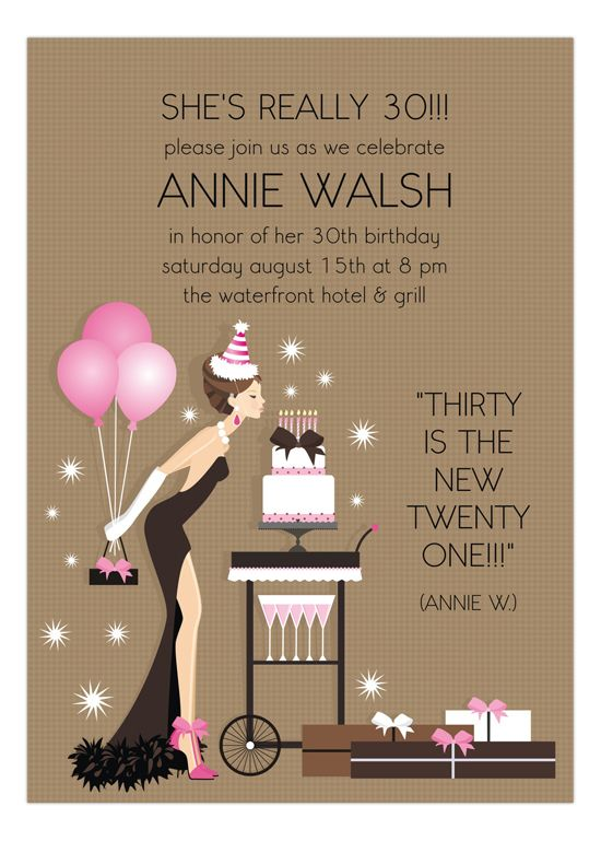 30th Birthday Invites Ill Keep This In Mind