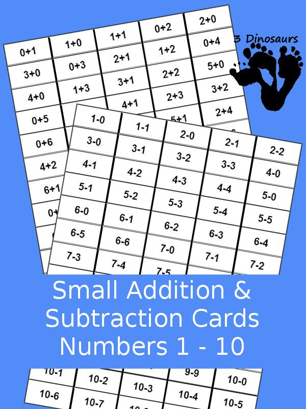 more ways to add subtraction flash cards best of 3 dinosaurs rh pinterest com