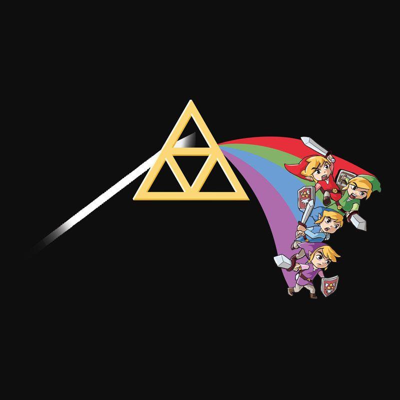 "Zelda Pink Floyd Shirt ""Dark Side of the Triforce"" Tee – Wear Viral"