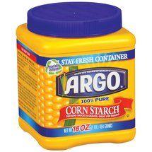 Argo 100 Pure Corn Starch 16 Oz Cosas