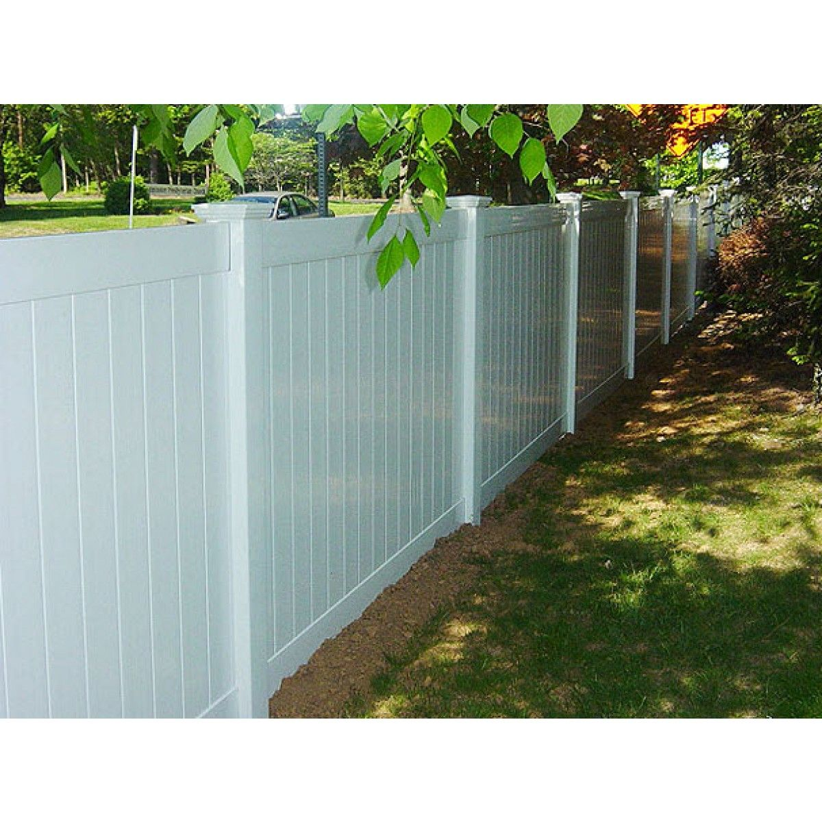 Solid Privacy Vinyl Fence Package 5 Panels 6' High