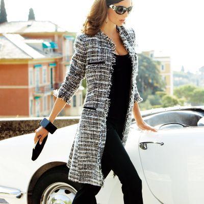 manteau tweed femme votre mode 3 suisses a m 39 irait. Black Bedroom Furniture Sets. Home Design Ideas