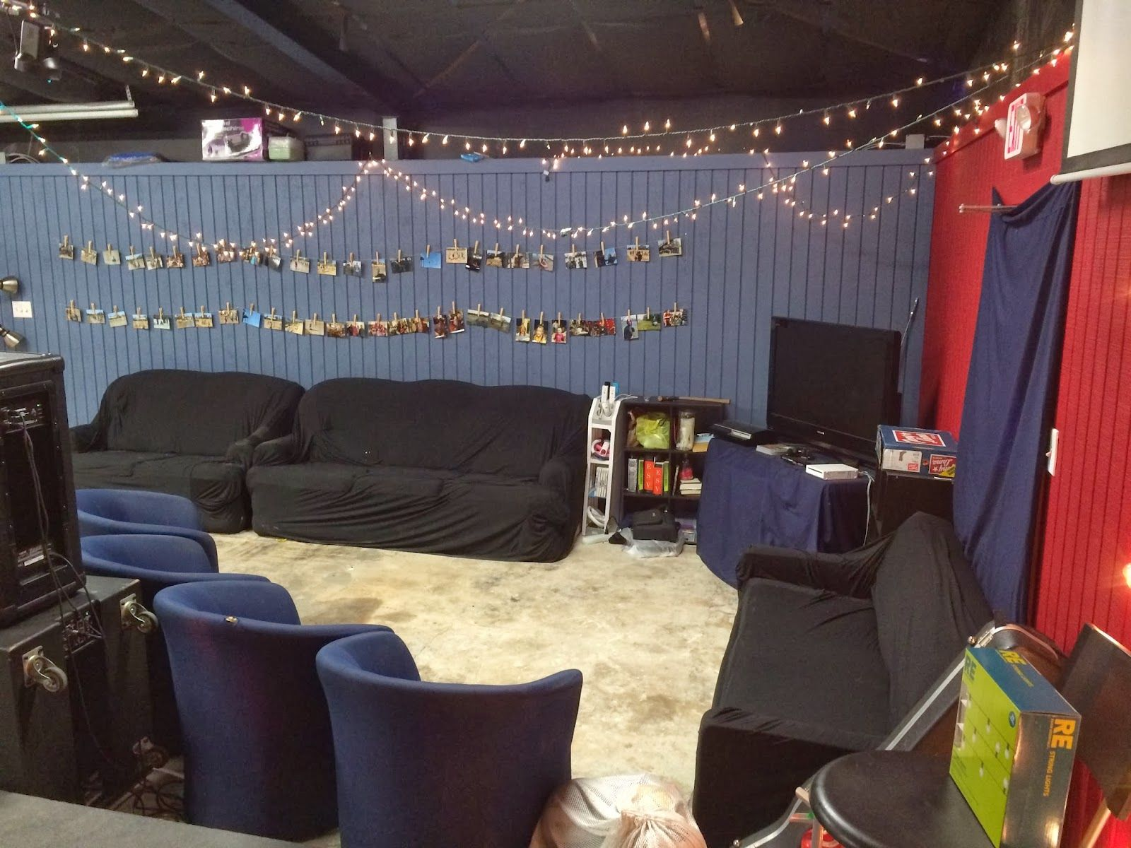 Modern Ministry Youth Room On A Budget For A Normal Size Church Youth Ministry Room Youth Room Church Youth Rooms