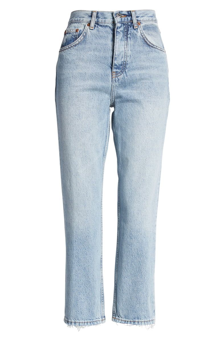 Free Shipping And Returns On Topshop The Editor High Waist Straight Leg Jeans Bleach At Nordst In 2020 Straight Leg Jeans Straight Leg Denim High Waisted Denim Jeans