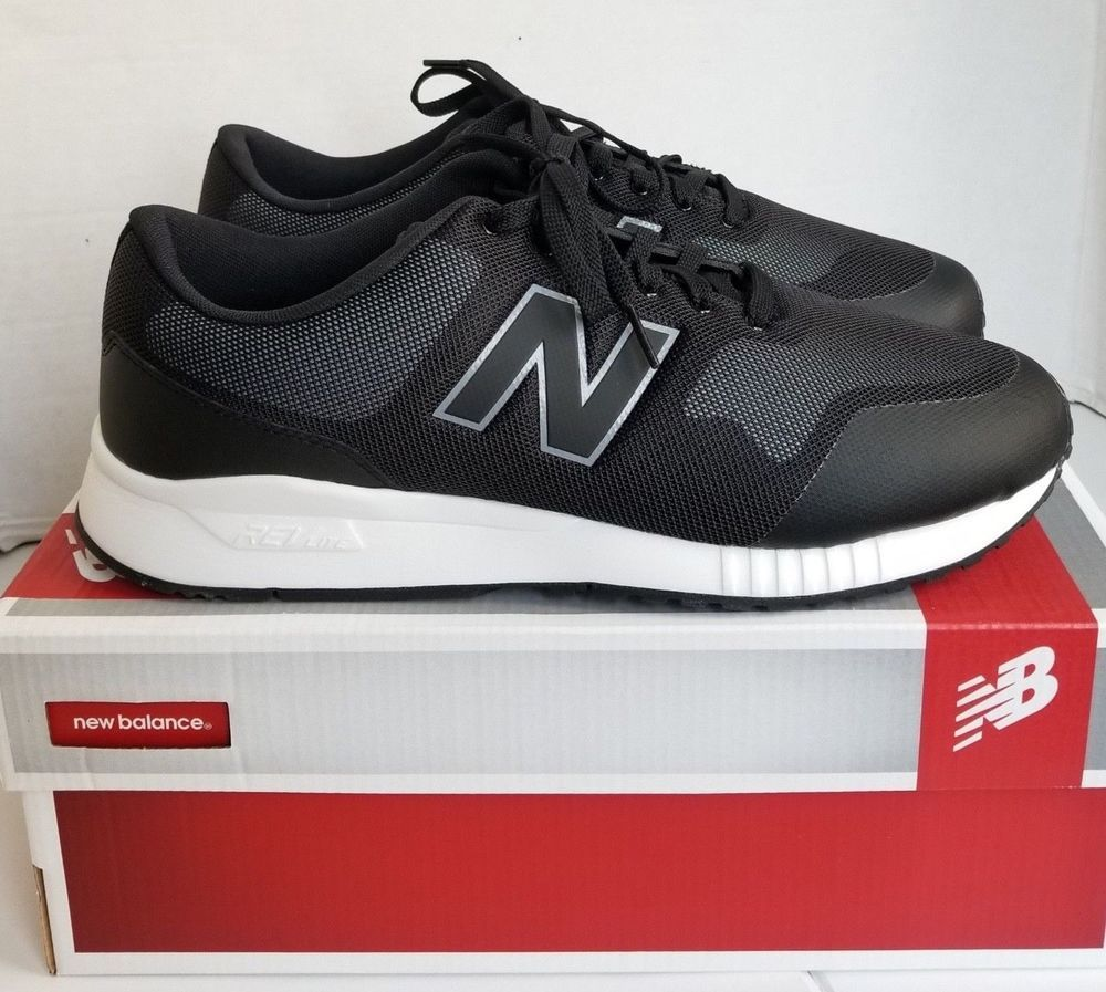 New Balance Men's Size 11.5 4E XWide Black White Lifestyle