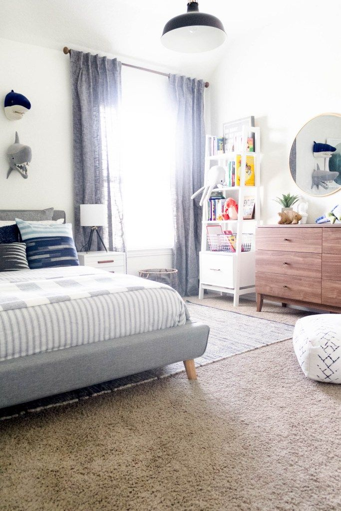 modern beach big boy bedroom makeover reveal iris nacole blog rh pinterest ca