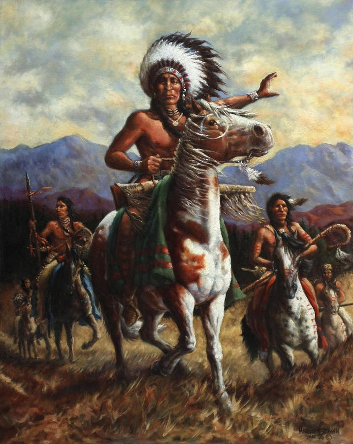 Cowboy And Native American Indian Paintings For Sale Uk