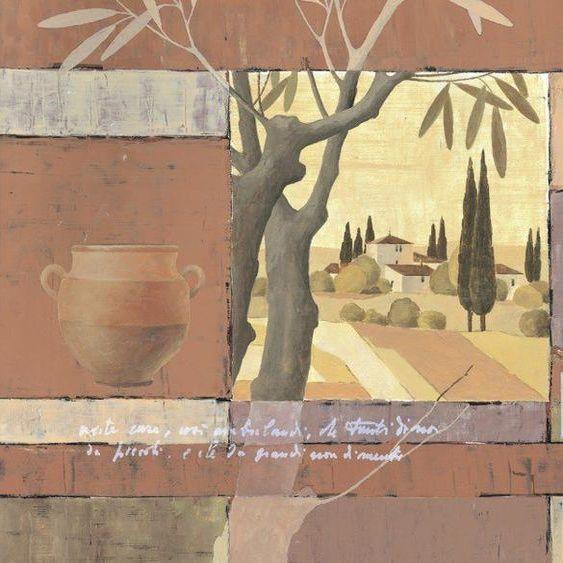 Artland Poster Canvas Print »Mediterranean Cornfields Landscape Fields Painting«#artland #canvas #cornfields #fields #landscape #mediterranean #painting #poster #print