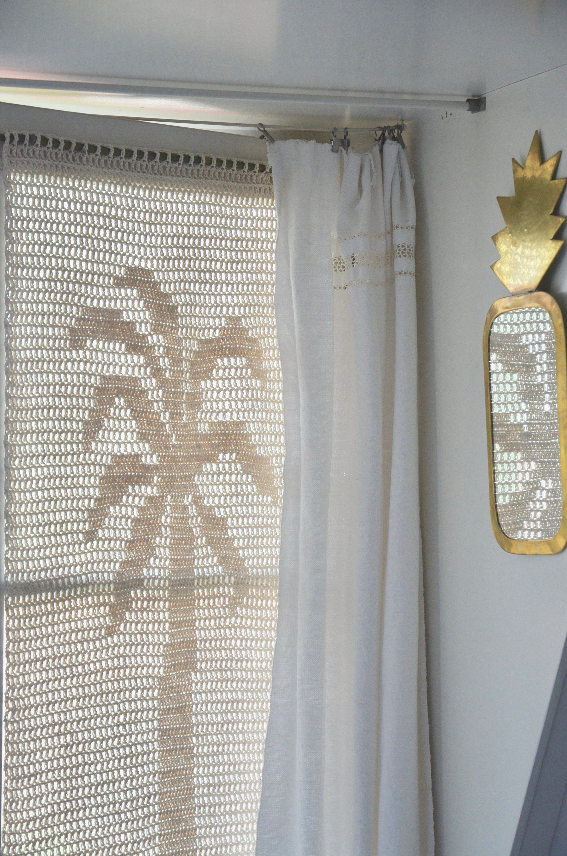 Woodwoolstool Palmboom Patroon Filet Haakwerk Filet Crochet