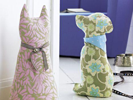 Türstopper Hund & Katz | Nähideen | Türstopper, Nähen und Türstopper ...