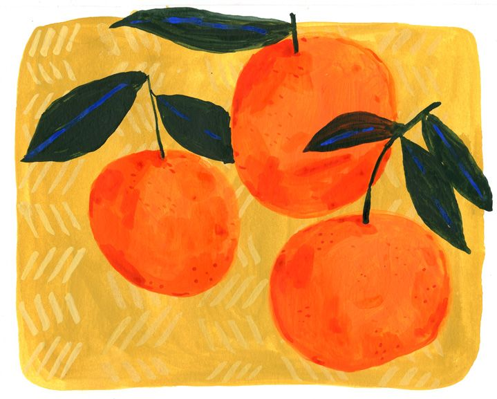 'Clementines with Leaves' by Elizabeth Graeber