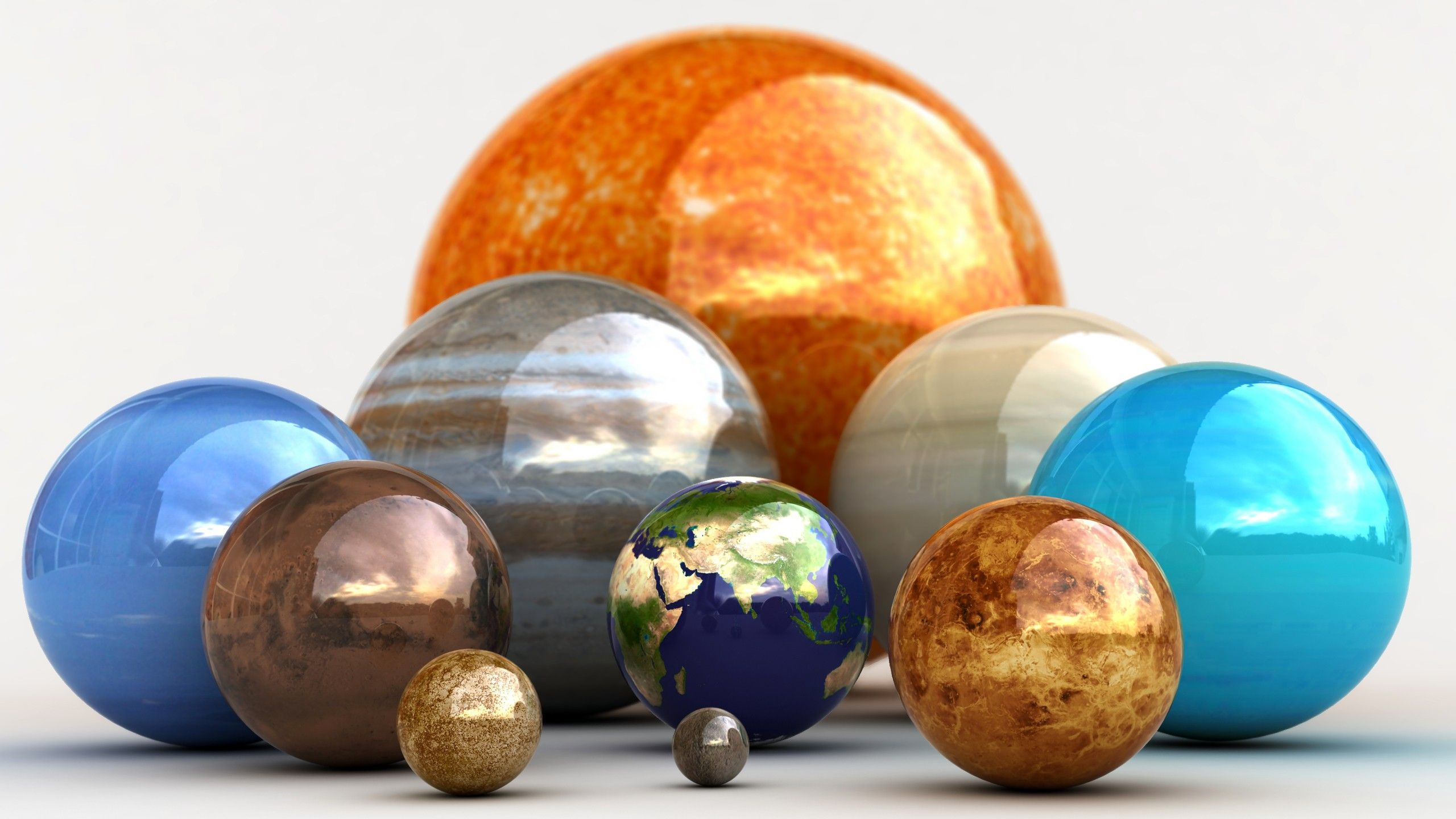 Sun Outer Space Solar System Planets Infographics Hd Wallpapers