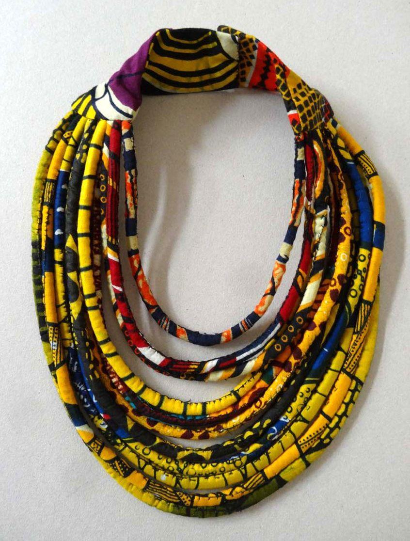 Collier Fleur, Collier Plastron, Tissus Imprimés, Bijoux En Tissu, Bijoux  Ethniques, Cabane, Bricolage, Bijoux Textile, Bijoux Tissu
