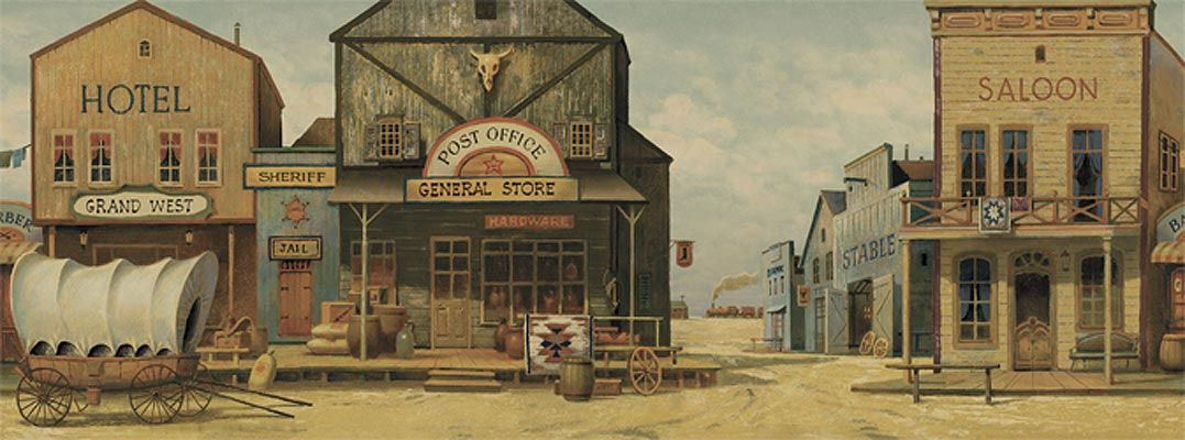 Image gallery old west town names for Cowboy wall mural