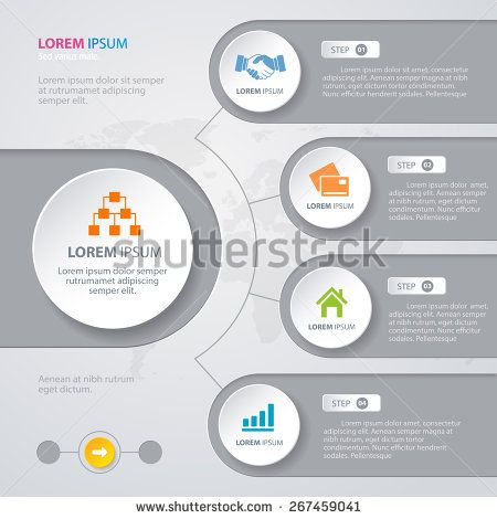 Vector infographic design white circles with world map on the grey vector infographic design white circles with world map on the grey background eps 10 gumiabroncs