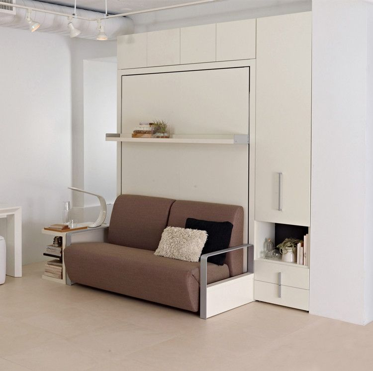 The Ito is a self-standing, queen size wall bed system. This space