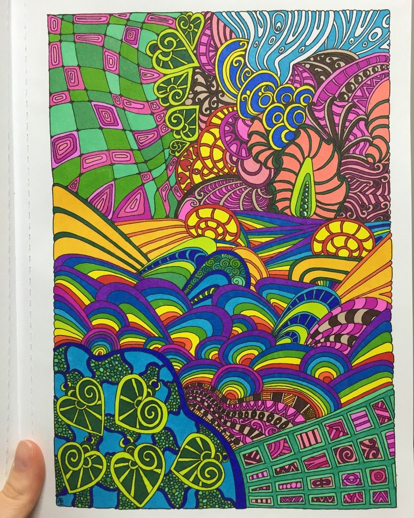 Entangled Angela Porter Page 4 Sharpies White Gel Pen Win Trippy Painting Tangle Art Coloring Pages