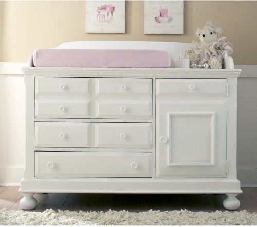 Merveilleux Creations Baby Summers Evening Combo Dresser   Rubbed White   Traditional   Changing  Tables   Hayneedle