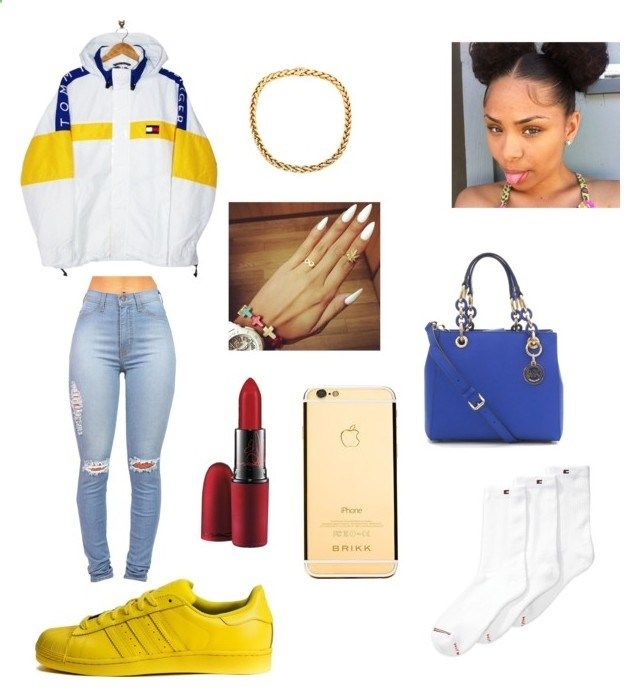 Very Fresh,Very Fresh by cloutqueex on Polyvore featuring polyvore fashion style Tommy Hilfiger MAC Cosmetics adidas clothing