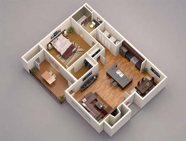 13 Awesome 3d House Plan Ideas That Give A Stylish New Look To Your Home House Blueprints 3d House Plans 3d Home Design