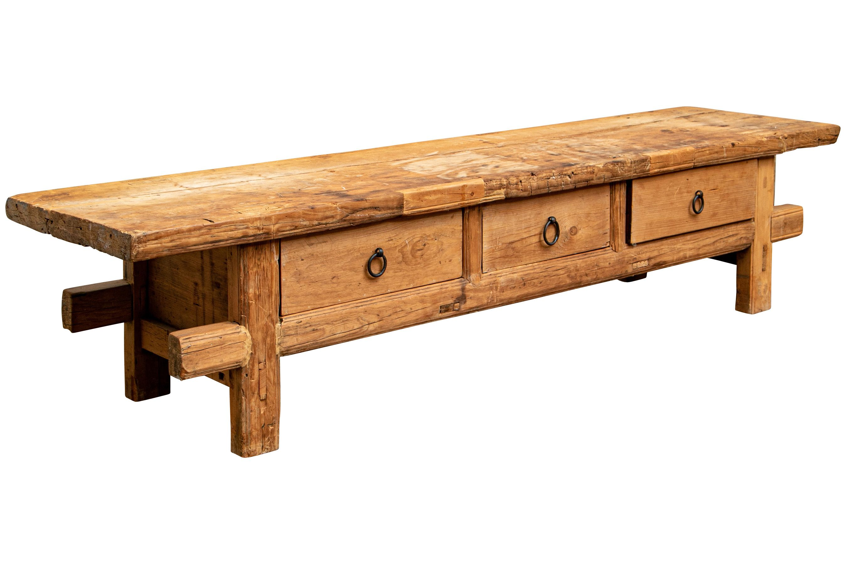 A Narrow Bench With Three Frieze Drawers Block Legs In One Piece With The Frame 0d 0al 82 1 2f2 22 2c Depth 20 1 2 Rustic Wood Bench Wood Bench Rustic Wood