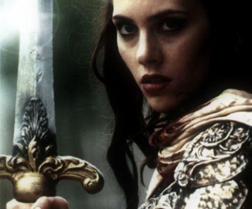 Women Warrior Artwork Sword Rain Cyberpunk Cyberpunk: I Am Her, Danna (rhymes With Hannah), Rusted & Weathered