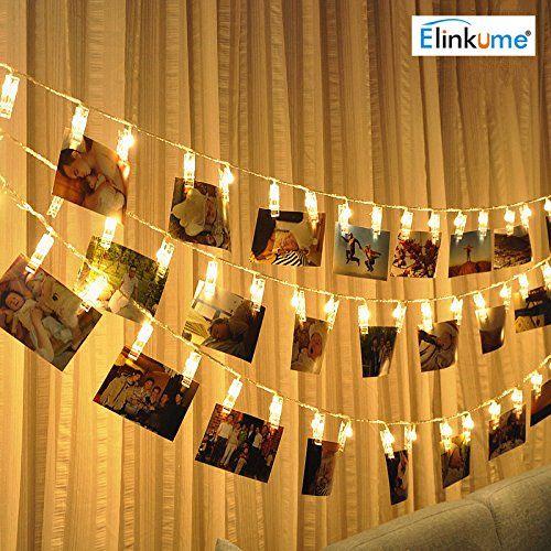 ELINKUME LED Foto Clip Lichterkette, 20 Foto Clips, 2,2 Meter/ Pictures Gallery