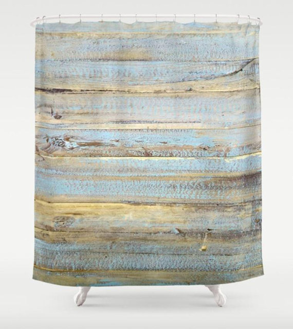 Shower Curtain Wood Shower Curtain Blue Shower Curtain Bathroom