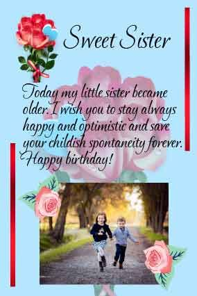 Happy Birthday Letter For Sister From Brother With Birthday Wishes