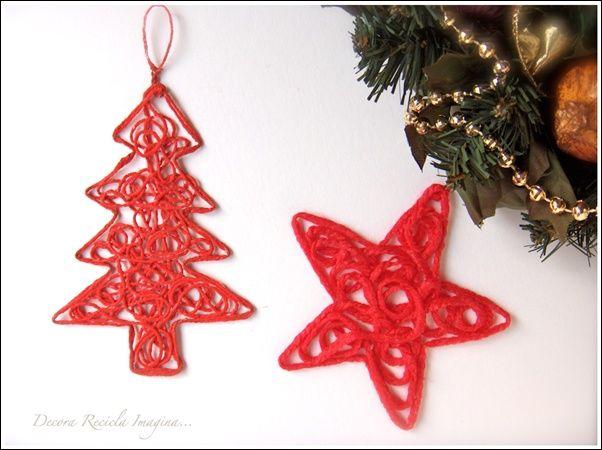 Yarn Ornament Ornaments Pinterest Decoracion Hogar Hogar Y - Adornos-originales-para-navidad