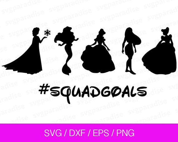 Princess Squad Goals Decal Vinyl Decal Squad Goals   Princess