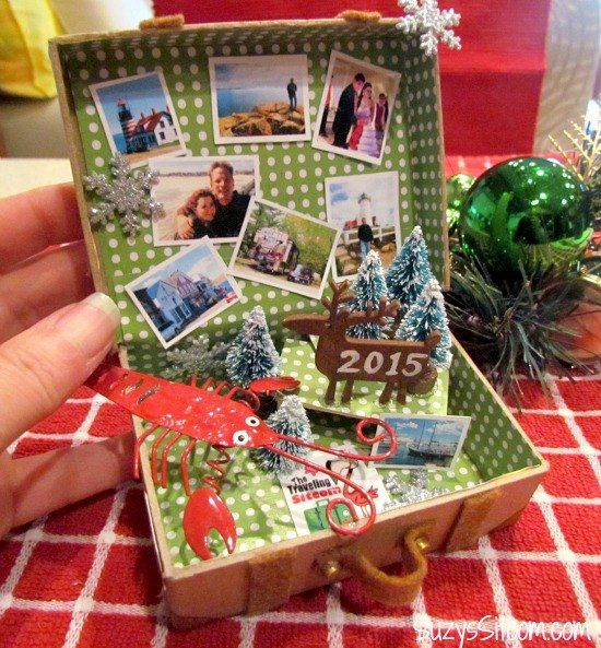 This Miniature Suitcase Is The Perfect Christmas Tree Ornament To Make For  Any Traveler In Your