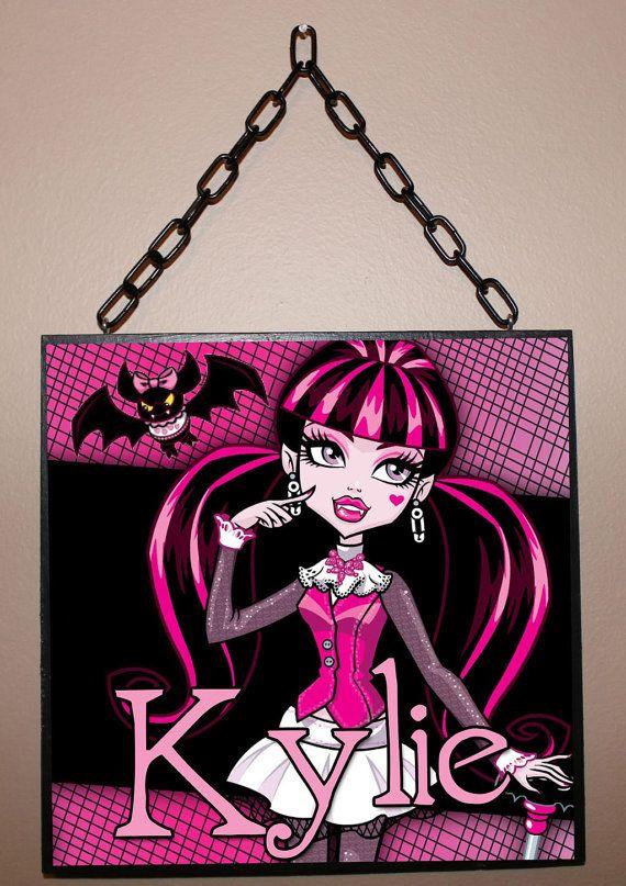 10x10 Girls Bedroom: Custom Name Sign Monster High Inspired / By Berryhills On