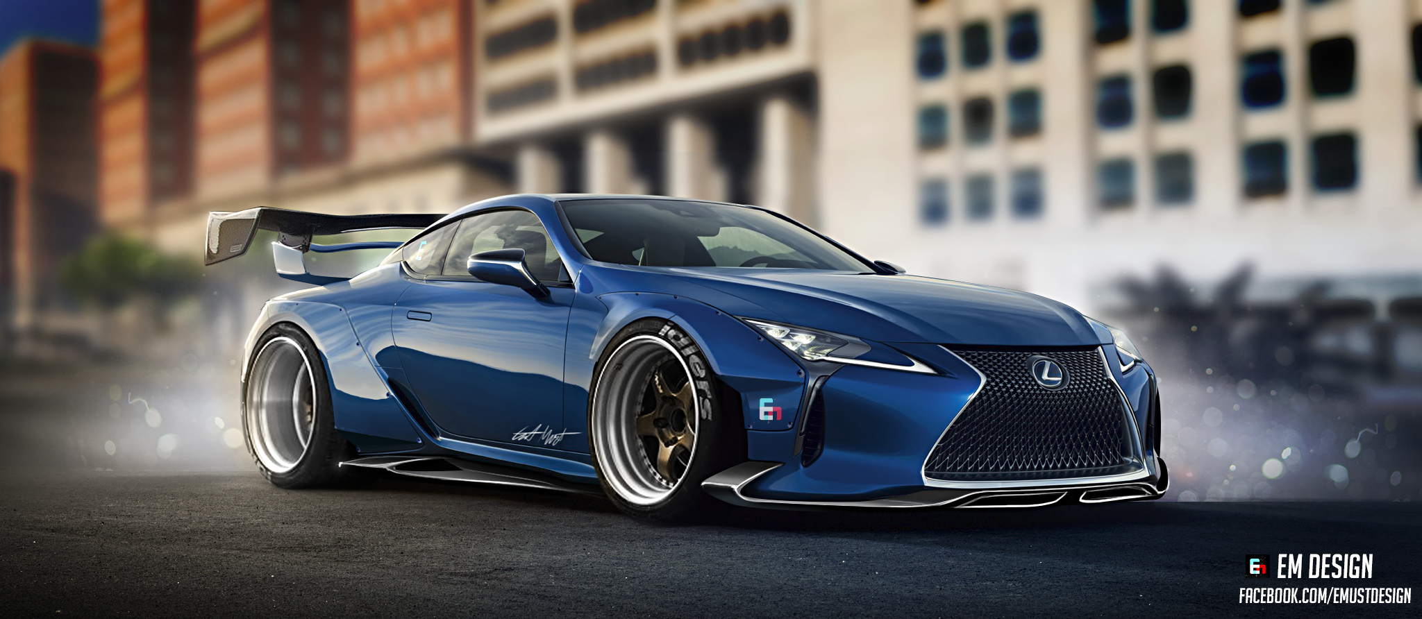 A Wide Body Kit on a Lexus LC 500