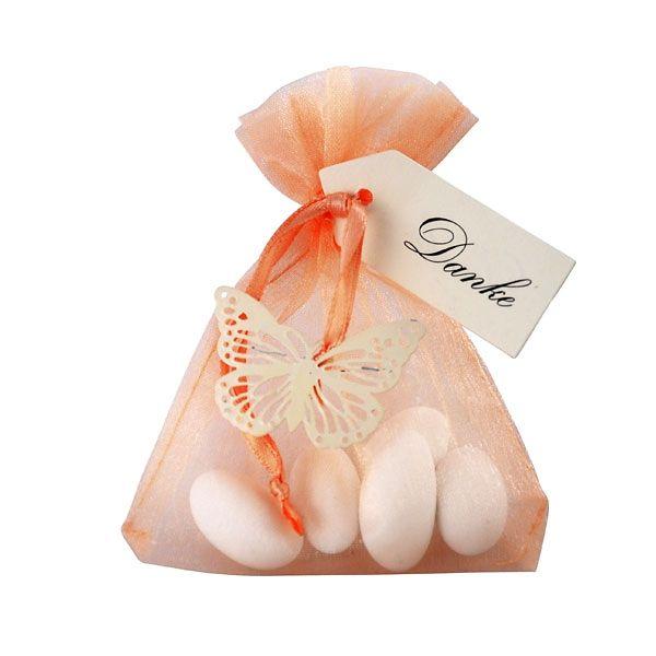 Gastgeschenk Daphne apricotcreme Bonboniere Hochzeit Taufe Kommunion  Blush Wedding