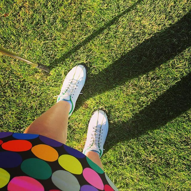 """""""Fashion so loud I need to shout """"Fore!"""" #Golf skirt by @loudmouthgolf_hq for an amazing #summer day on the course. #golfstyle #golffashion #coursestyle #sports #fashion #ootd"""""""